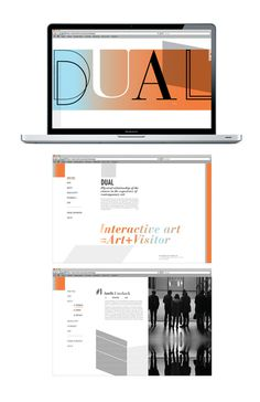 DUAL #design #graphic #exhibition #website #poster #gradient