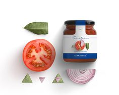 Takk Norge Packaging - Kommigraphics #minimal #structure #grid #canvas #composition #fruits #vegetables #jam #sauce #greek #norway #packagi