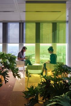 Studio Makkink & Bey   DAMN° Magazine De Rotterdam interior by Studio Makkink & Bey and Group A #office #rotterdam #colourful #pixel #design