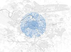 grand paris – detail of paris with the datascape of abstract volumes of the interventions #urban