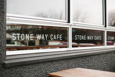 Stone Way Cafe by Shore #graphic design #typography #glass print