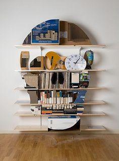 Skull Bookshelf Sculptures #skull #bookshelf