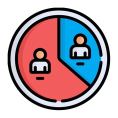 See more icon inspiration related to business and finance, elections, stats, graphical, pie chart, marketing, statistics and people on Flaticon.
