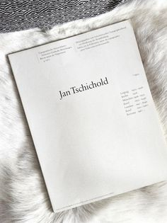 Jan Tschichold #white #book #publication #space #cover #type