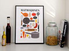 Matmisjonen on Behance #cooking #health #brand #illustration #identity #poster