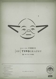 The Force Of Typography – Star Wars Posters For Charity | Matters of Grey #starwars #yoda #typography