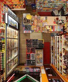 Dezeen  Blog Archive  Room Portraits by Menno Aden #shop #birds eye view #corner store