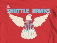 Dribbble - Shuttlehawks by Mike Greenwell #shuttle #red #white #hawks #blue