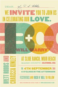 Andy Hayes - Roddis Wedding Invitation