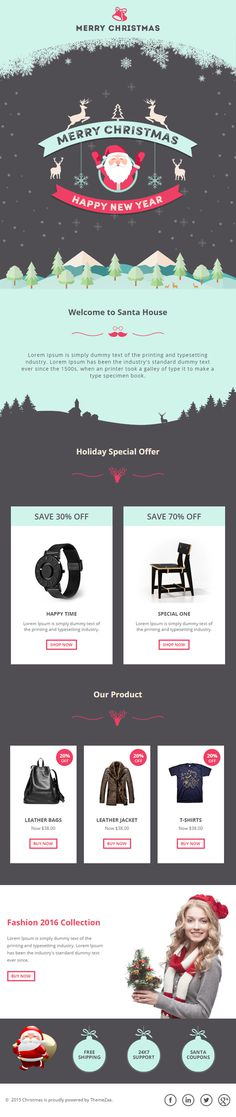 #Christmas #Responsive #Email Template with Online #Builder for #Offers and #Products http://goo.gl/f3Dnmt