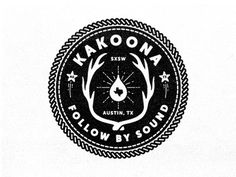 Kakoona #badge #mark #logo #black #vintage