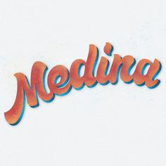 My Second Name, Medina #calligraphy #lettering #script #funk #typography