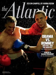 SLUGFEST 2012 #atlantic #romney #the #cover #magazine #obama