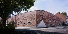 d'houndt + bajart architectes school canteen bert-blum lille designboom #skin #snake