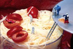 william-kass-15 #photography #miniature world #scale #miniature #food #pasta