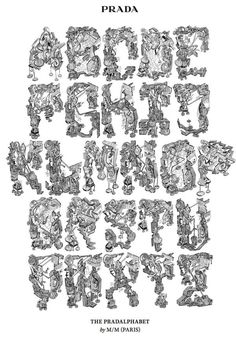 www.underwerketprojects.blogspot.com: A designstudio we like: M+M Paris #alphabet #prada #poster #typography