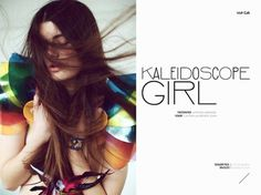 Kaleidoscope Girl lost in her world of Chloe,Stella McCartney,Nathan Jenden with accessories by Little Shilpa   Volt Café   by Volt Magazine #beauty #design #graphic #volt #photography #art #fashion #layout #magazine #typography