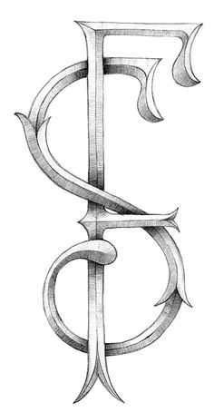 SF identity Sergi Ferrando #graphite #ferrando #monogram #sf #sergi #sketch