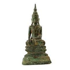 Bronze of Buddha Shakyamuni. THAILAND, probably 19th century. Century