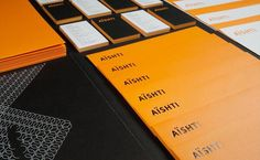 Aishti Identity Work Sagmeister #stamp #business #card #envelope #stationery #foil