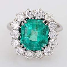 Damenring m. 1 Smaragd