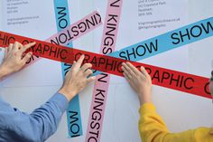 Kingston Graphic Show - Luke Dodridge #typography #design #type #typeface #branding #show #tape #identity #pink #red #blue