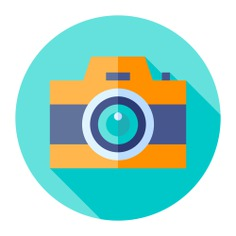See more icon inspiration related to camera, photograph, photo camera, electronics, digital, interface, picture and technology on Flaticon.