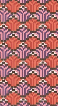 833l.jpg (JPEG Image, 250x453 pixels) #pattern #orange #geometric #vintage #purple #wallpaper