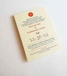 Wedding Invite Jefferson Cheng — Design #invites