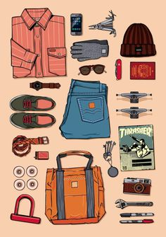 Justin Poulter #illustration #clothing