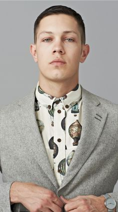 Hot Air Balloon Shirt #retro #shirt #balloon #blazer #menswear #fashion #grey