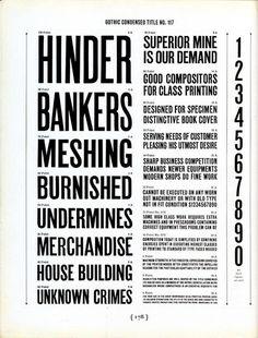 Gothic Condensed Title No. 117 type specimen #type #specimen