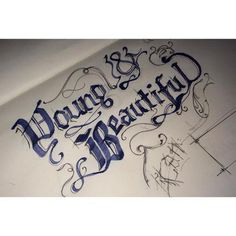 Typography (Sketch/Mock up) I #calligraphy #ink #young #del #quote #lana #design #rey #and #beautiful #typography
