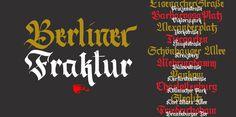 Berliner Fraktur #calligraphy #font #typography