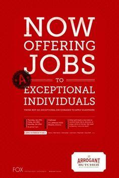TheArrogantButcher_04.jpg (510×765) #butcher #hiring #jobs #arrogant #poster