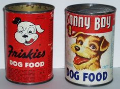 All sizes | Dog Food Cans | Flickr - Photo Sharing! #illustration #vintage #label #typography