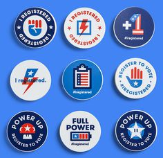 Google #IRegistered Stickers
