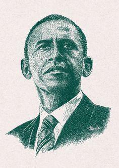 #obama #barackobama #president #people #face #figure #politics #art #design #potrait #america #USA