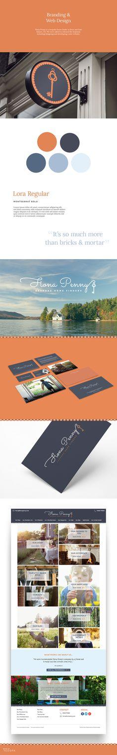 Fiona Penny branding, stationery and web design, by Redspa http://redspa.uk