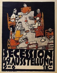 49th Secession exhibition poster 1918 Egon Schiele #poste #poster