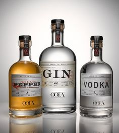 Brian Piper / Oola Distillery #logotype #bottle #packaging #design #type