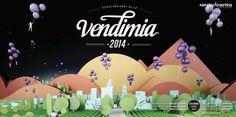 Propuesta Vendimia 2014En dupla creativa con Milton Monsalvo (Elefante Arquitectos) #flat #modern #color #pixel #harvest #grape #poster