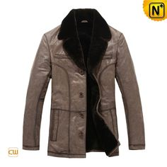Shearling Fur Lined Coat CW819405 #fahion