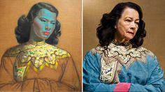 The painting Chinese girl and Monika Pon su san