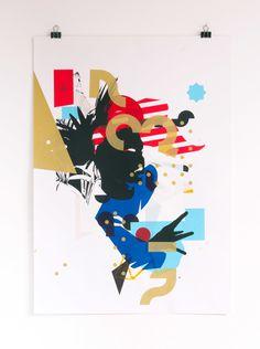 Print Making Money Gang Collage No1