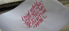 Calligraphi.ca — In the end lyrics — nib, ink, paper — Kinessisk #calligraphy #ink #nib