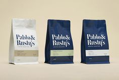 Pablo & Rusty's by Manual #coffee #bags