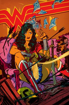Wonder Woman Comic Style Geek Art By Nathan Fox