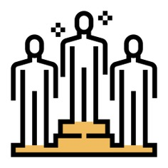 See more icon inspiration related to goal, success, accomplish, achieving, achievement, goals, increase, networking, person and people on Flaticon.