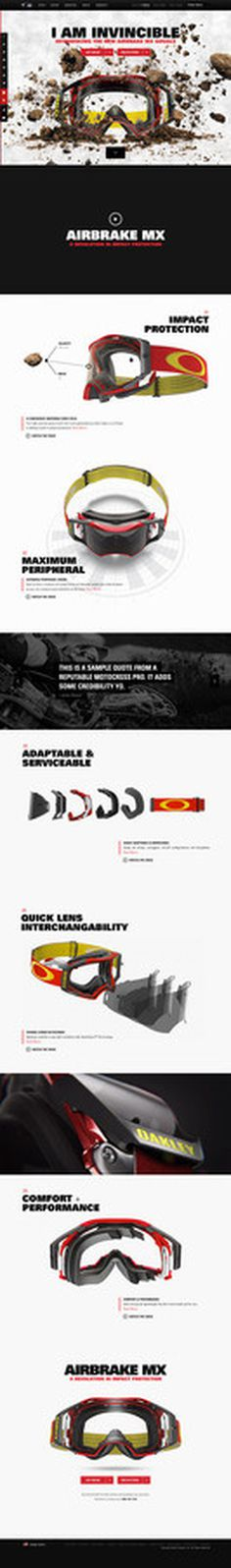 Oakley Minisite - Airbrake MX #animation #oakley #parallax #minisite #layout #web